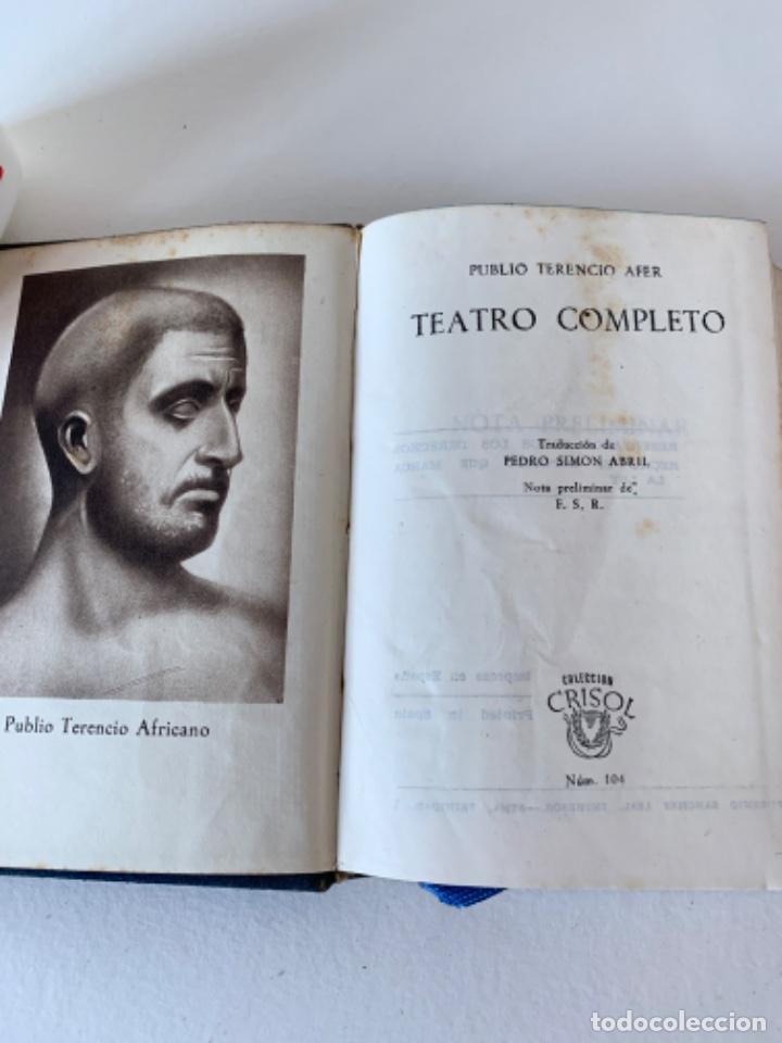 CRISOL NÚMERO 104 TEATRO COMPLETO DE TERENCIO (Libros de Segunda Mano (posteriores a 1936) - Literatura - Teatro)