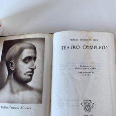 Libros de segunda mano: CRISOL NÚMERO 104 TEATRO COMPLETO DE TERENCIO. Lote 217401897
