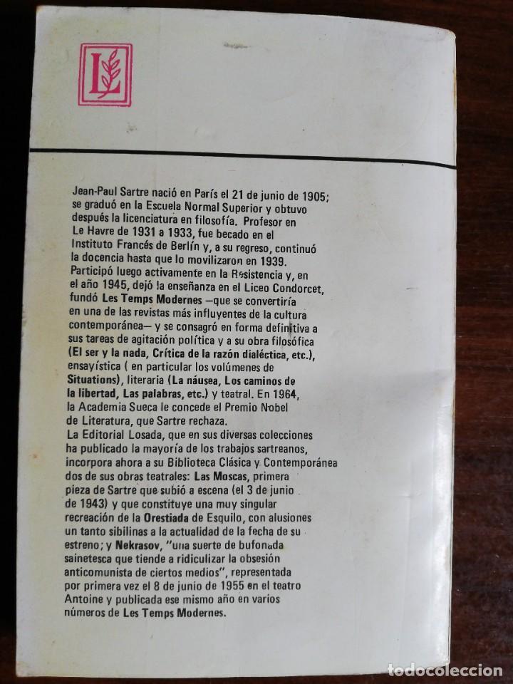Libros de segunda mano: LAS MOSCAS. NEKRASOV. - JEAN PAUL SARTRE. EDIT. LOSADA. 1980 - Foto 6 - 218208965
