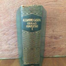 Libros de segunda mano: OBRAS COMPLETAS I - ALEJANDRO CASONA - AGUILAR 1954 - CANTO DECORADO. Lote 218356242