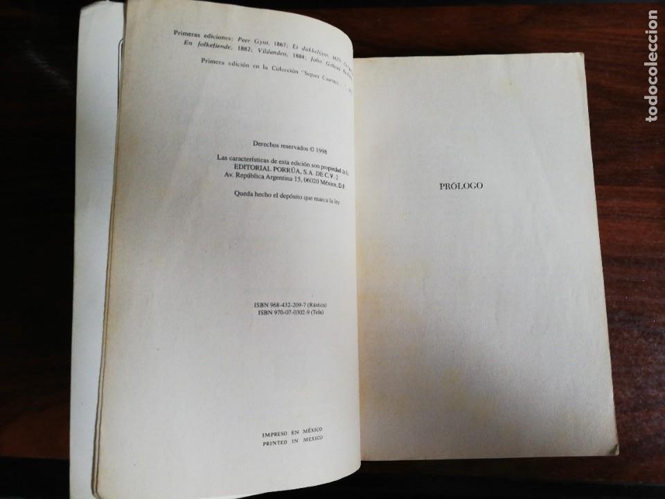 Libros de segunda mano: H. IBSEN. PEER GYNT. CASA DE MUÑECAS. ESPECTROS. UN ENEMIGO DEL PUEBLO. EL PATO SILVESTRE... - Foto 4 - 218686535