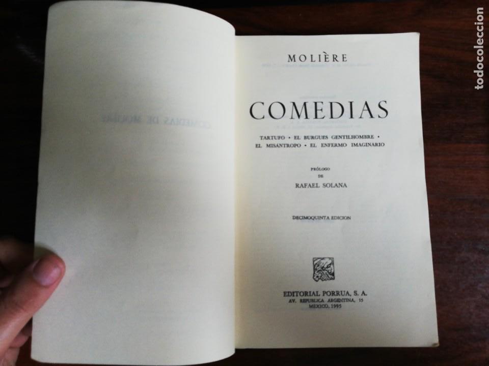Libros de segunda mano: MOLIERE - COMEDIAS: TARTUFO, EL BURGUÉS GENTILHOMBRE, EL MISÁNTROPO, EL ENFERMO IMAGINARIO - Foto 3 - 218687496