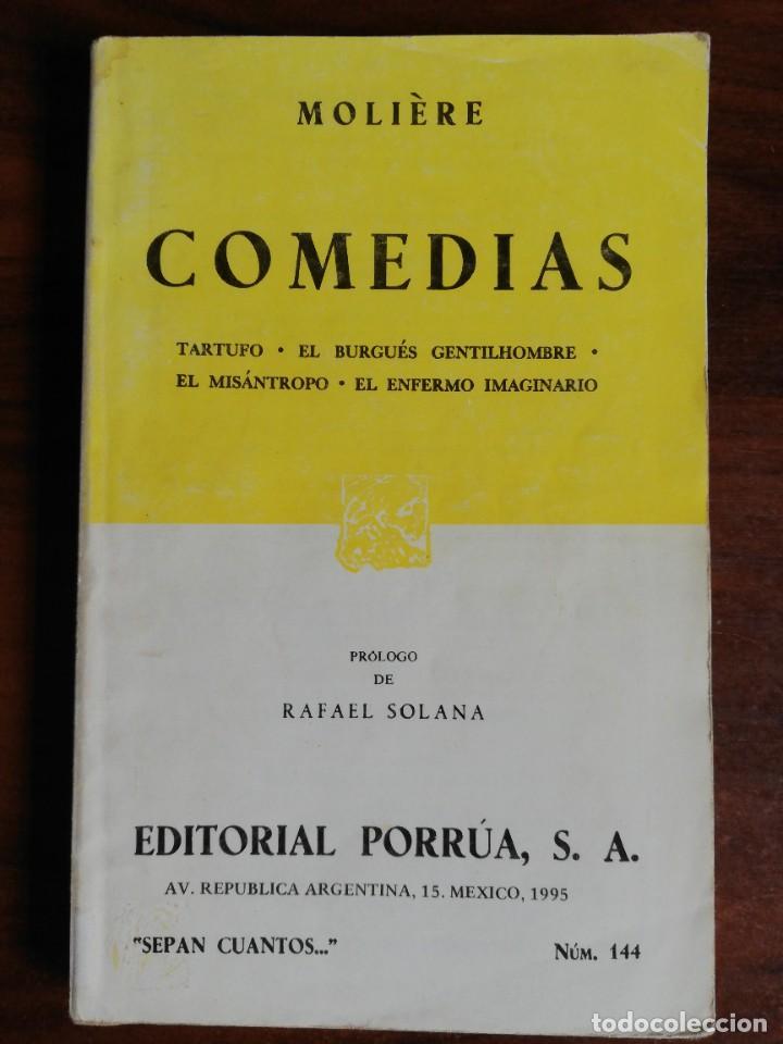 MOLIERE - COMEDIAS: TARTUFO, EL BURGUÉS GENTILHOMBRE, EL MISÁNTROPO, EL ENFERMO IMAGINARIO (Libros de Segunda Mano (posteriores a 1936) - Literatura - Teatro)