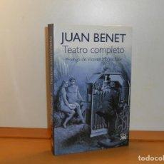 Libros de segunda mano: JUAN BENET, TEATRO COMPLETO, PRÓL. VICENTE MOLINA FOIX . SIGLO XXI , 430 PÁGINAS. Lote 219847330
