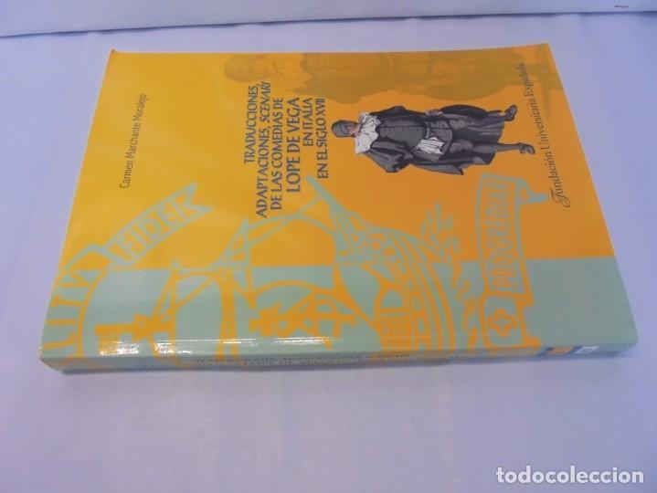 Libros de segunda mano: TRADUCCIONES, ADAPTACIONES, SCENARI DE LAS COMEDIAS DE LOPE DE VEGA EN ITALIA EN EL SIGLO XVII. 2007 - Foto 2 - 220500621