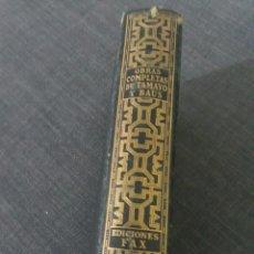 Libros de segunda mano: OBRAS COMPLETAS DE TAMAYO Y BAUS . EDICIONES FAX. Lote 220589822
