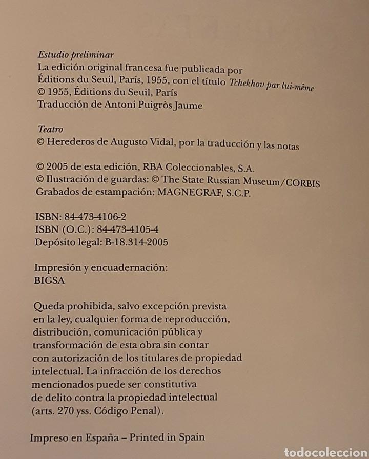 Libros de segunda mano: Chejov, Antón P. Obras Completas. Teatro, tomo I. Contiene estudio preliminar. RBA, 2005 - Foto 3 - 221004435
