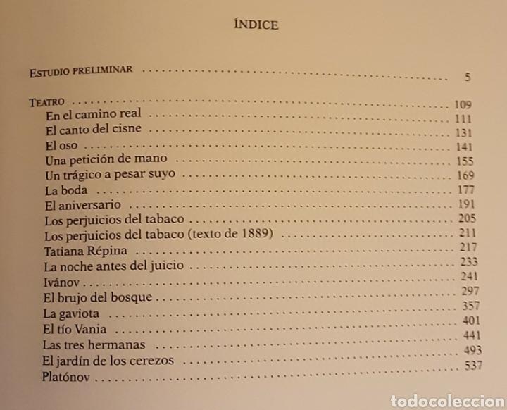 Libros de segunda mano: Chejov, Antón P. Obras Completas. Teatro, tomo I. Contiene estudio preliminar. RBA, 2005 - Foto 6 - 221004435