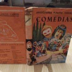 Libros de segunda mano: COMEDIAS, ARISTOFANES.PLAUTO.TERENCIO, 1961. Lote 221610872