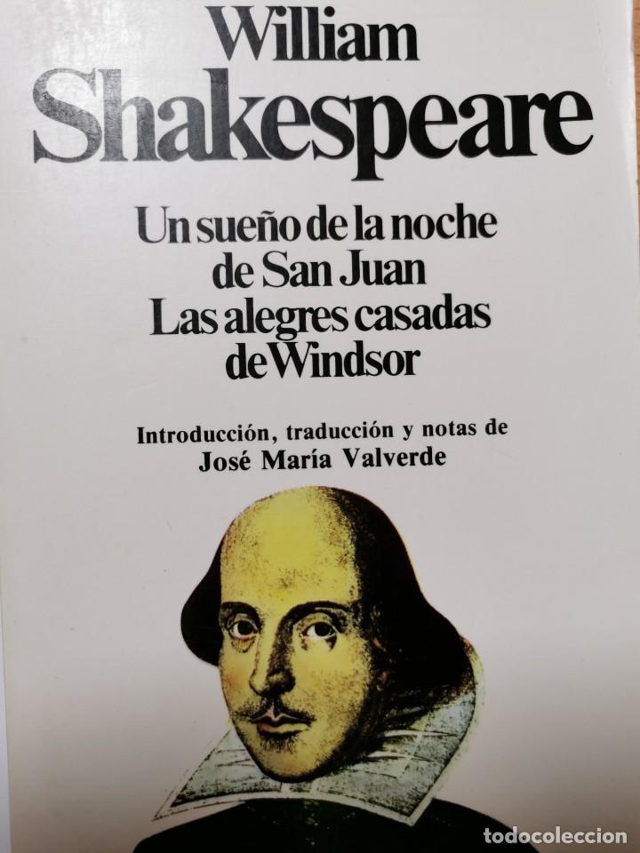 EL SUEÑO DE LA NOCHE DE SAN JUAN. LAS ALEGRES CASADAS DE WINDSOR (Libros de Segunda Mano (posteriores a 1936) - Literatura - Teatro)