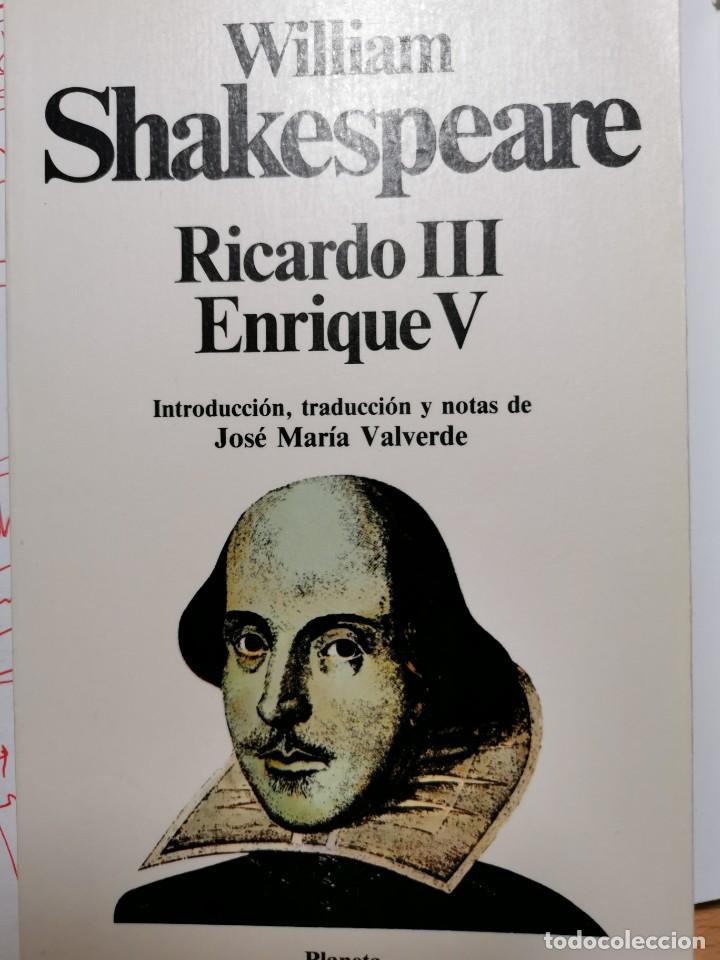 RICARDO III. ENRIQUE V (Libros de Segunda Mano (posteriores a 1936) - Literatura - Teatro)