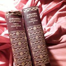Libros de segunda mano: OBRAS COMPLETAS (2 VOL.), DE ALEJANDRO CASONA. AUTORES MODERNOS, AGUILAR 1966. Lote 221971852