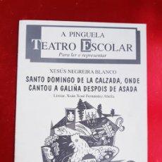 Libros de segunda mano: LIBRO-A PINGUELA-TEATRO ESCOLAR-PARA LEER E REPRESENTAR-GALEGO-XESUS NEGREIRA BLANCO-VER FOTOS. Lote 222695233