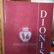 Libros de segunda mano: REVISTA DE INVESTIGACIÓN,CREACIÓN Y CRÍTICA TEATRAL DIONISO Nº 5, CÁCERES MAYO-OCTUBRE 2009. Lote 222741422