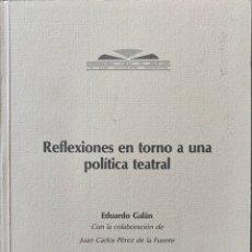 Libros de segunda mano: REFLEXIONES ENTORNO A UNA POLÍTICA TEATRAL Y LOS TEATROS DE MADRID 1982-1994: 2 VOLS. Lote 222791080