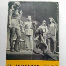 Libros de segunda mano: EL INOCENTE / UNA NOCHE DE LLUVIA - JOAQUÍN CALVO SOTELO. Lote 224901412