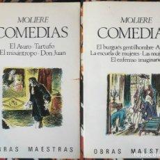 Libros de segunda mano: MOLIÈRE . COMEDIAS 1 Y 2. Lote 226420641