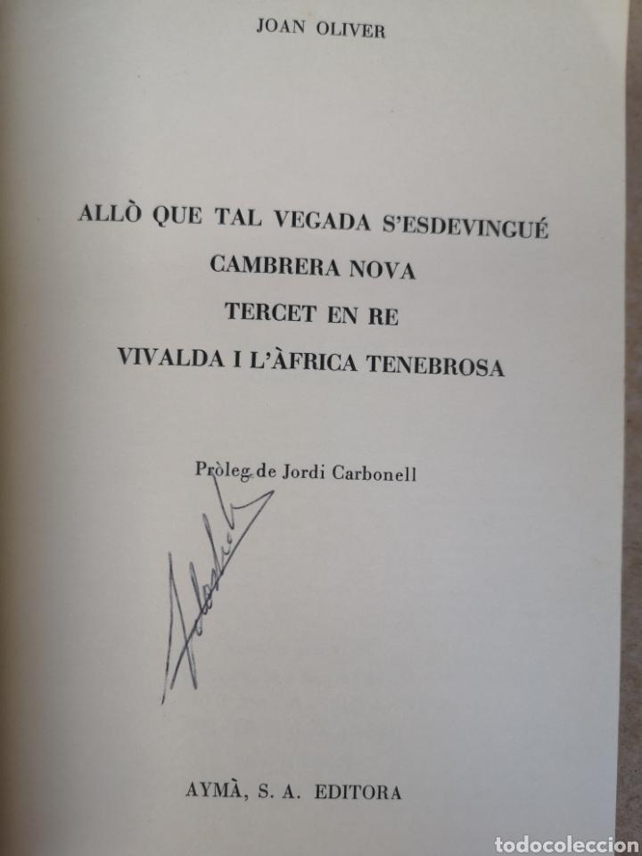 Libros de segunda mano: JOAN OLIVER. 4 comèdies en un acte. Pròl. JORDI CARBONELL. Aymà, 1a ed, Barcelona 1970. - Foto 4 - 227844290