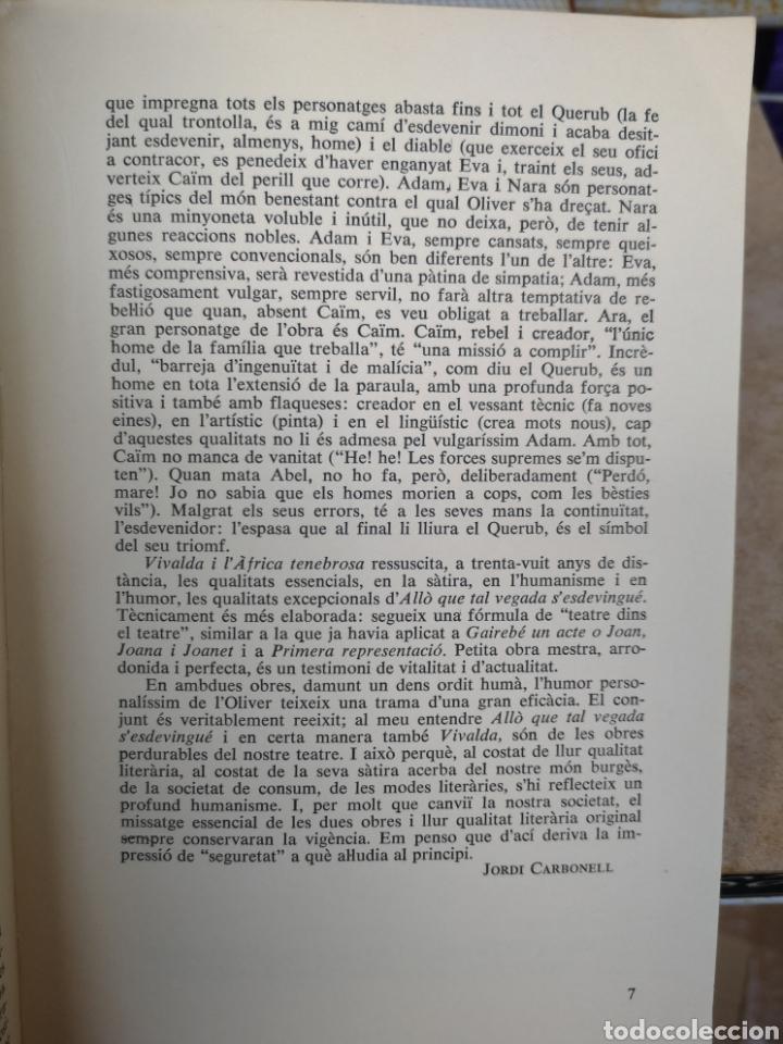 Libros de segunda mano: JOAN OLIVER. 4 comèdies en un acte. Pròl. JORDI CARBONELL. Aymà, 1a ed, Barcelona 1970. - Foto 7 - 227844290