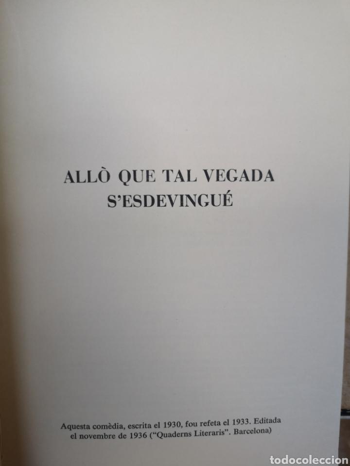 Libros de segunda mano: JOAN OLIVER. 4 comèdies en un acte. Pròl. JORDI CARBONELL. Aymà, 1a ed, Barcelona 1970. - Foto 8 - 227844290