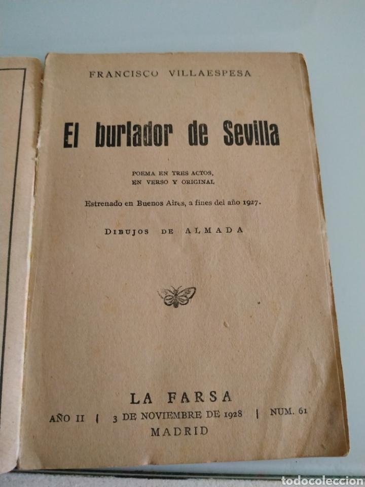 Libros de segunda mano: El burlador de Sevilla Francisco Villaespesa - Foto 3 - 227857932