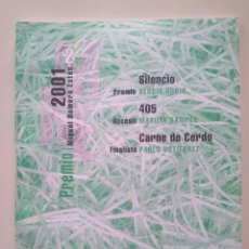 Libros de segunda mano: SERGIO RUBIO, MARILIA SAMPER, PABLO GUTIÉRREZ. PREMIO MIGUEL ROMERO ESTEO 2001. Lote 229026230