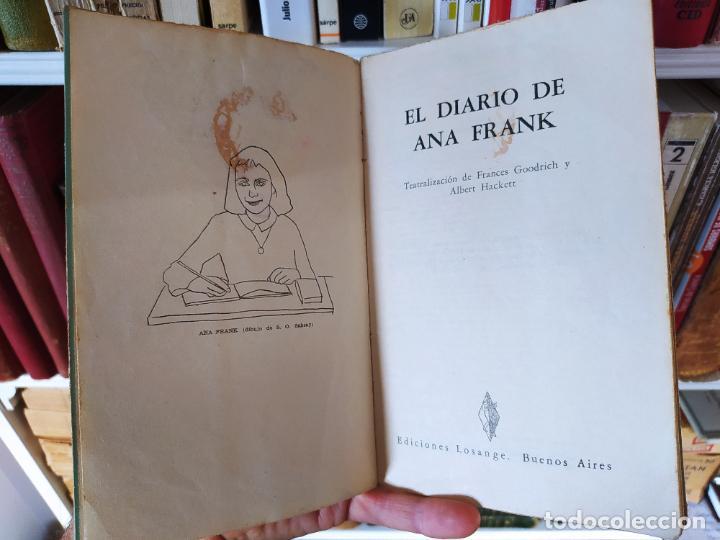 Libros de segunda mano: Curiosa teatralización de el diario de ana Frank. Ejemplar anotado para representarlo. - Foto 4 - 232420411