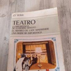 "Libros de segunda mano: LIBRO DE ÓSCAR WILDE. "" TEATRO "". 1982. Lote 233372050"