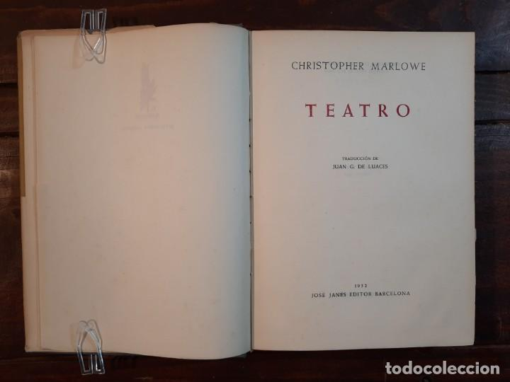 Libros de segunda mano: TEATRO - CHRISTOPHER MARLOWE - JOSE JANES EDITOR, 1952, 1ª EDICION, BARCELONA - Foto 7 - 233938095