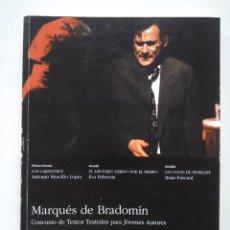 Libros de segunda mano: CONCURSO MARQUÉS DE BRADOMÍN 1997. ANTONIO MORCILLO LÓPEZ, EVA HIBERNIA, ITZIAR PASCUAL. Lote 234621545