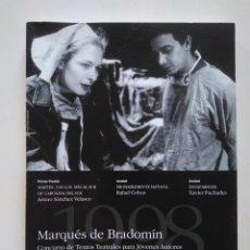 Libros de segunda mano: CONCURSO MARQUÉS DE BRADOMÍN 1998. ARTURO SÁNCHEZ VELASCO, RAFAEL COBOS, XAVIER PUCHADES. Lote 234621635