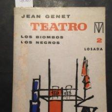 Livres d'occasion: LOS BIOMBOS, LOS NEGROS, JEAN GENET. Lote 235333835