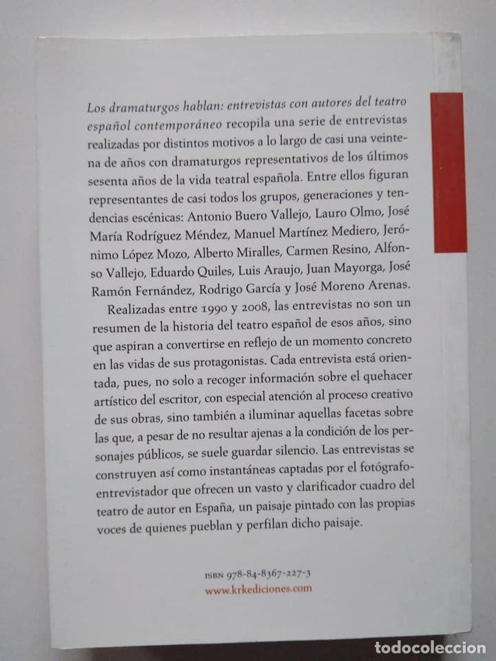 Libros de segunda mano: John P. Gabriele: Los dramaturgos hablan. Entrevistas con autores del teatro español contemporáneo - Foto 2 - 235525395