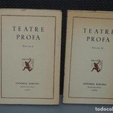 Livros em segunda mão: TEATRE PROFÁ.- (2 VOL.) .- A CURA DE JOSEP ROMEU. Lote 235961300