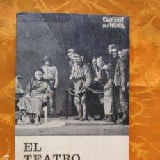 Libros de segunda mano: EL TEATRO, HOY (DOCE CRÓNICAS), DE RICARDO DOMENECH.. Lote 236471515