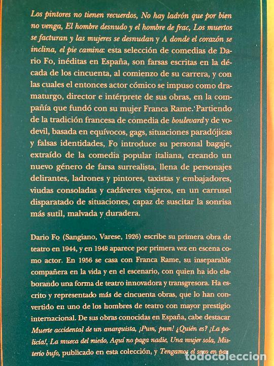 Libros de segunda mano: NO HAY LADRON QUE POR BIEN NO VENGA Y OTRAS COMEDIAS - DARIO FO - SIRUELA - Foto 2 - 237002665