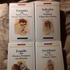 Libros de segunda mano: ESQUILO/ARISTÓFANES/SOFOCLES/EURIPIDES. CLASICOS GRIEGOS, TEATRO. OPERA MUNDI. Lote 237179400