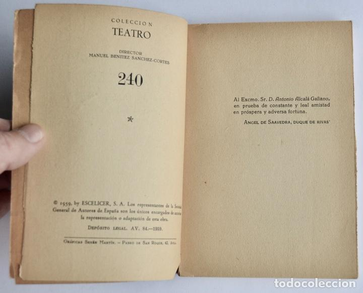 Libros de segunda mano: Duque de Rivas. Don Álvaro o La Fuerza del Sino. Colección Teatro, nº 240 (extra). Ed. Alfil, 1959 - Foto 3 - 237295990