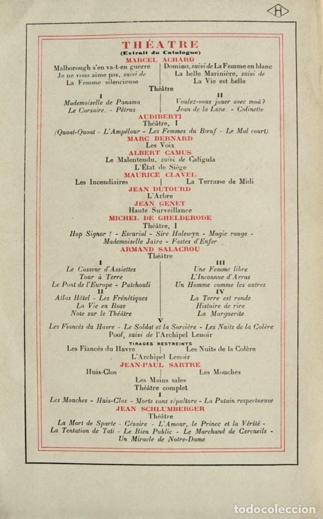 Libros de segunda mano: Michel de Ghelderode. Tomos I, II y III. Théâtre. Gallimard. 1950-53. Teatro Belga. Muy buen estado - Foto 4 - 237299170