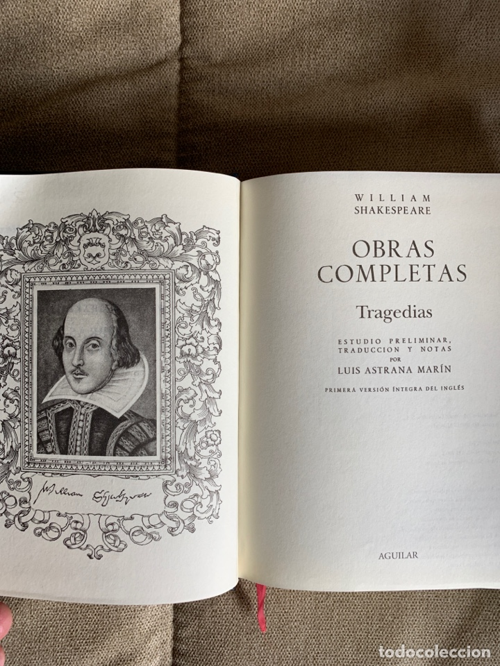 Libros de segunda mano: Obras completas Shakespeare, Aguilar 2 tomos - Foto 2 - 237312055
