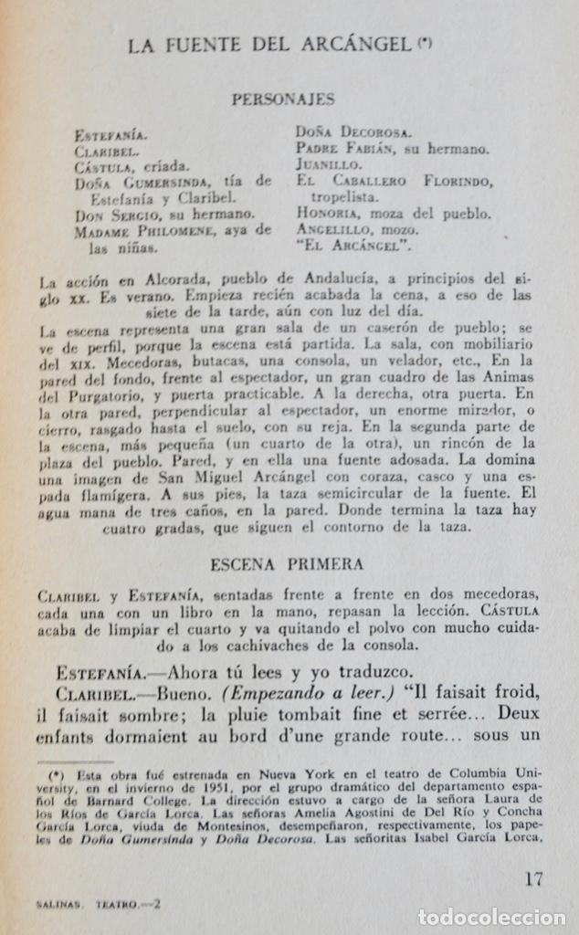 Libros de segunda mano: Pedro Salinas. Teatro Completo. Prólogo de Juan Marichal. Aguilar. Primera Edición. Madrid, 1957 - Foto 7 - 237330555