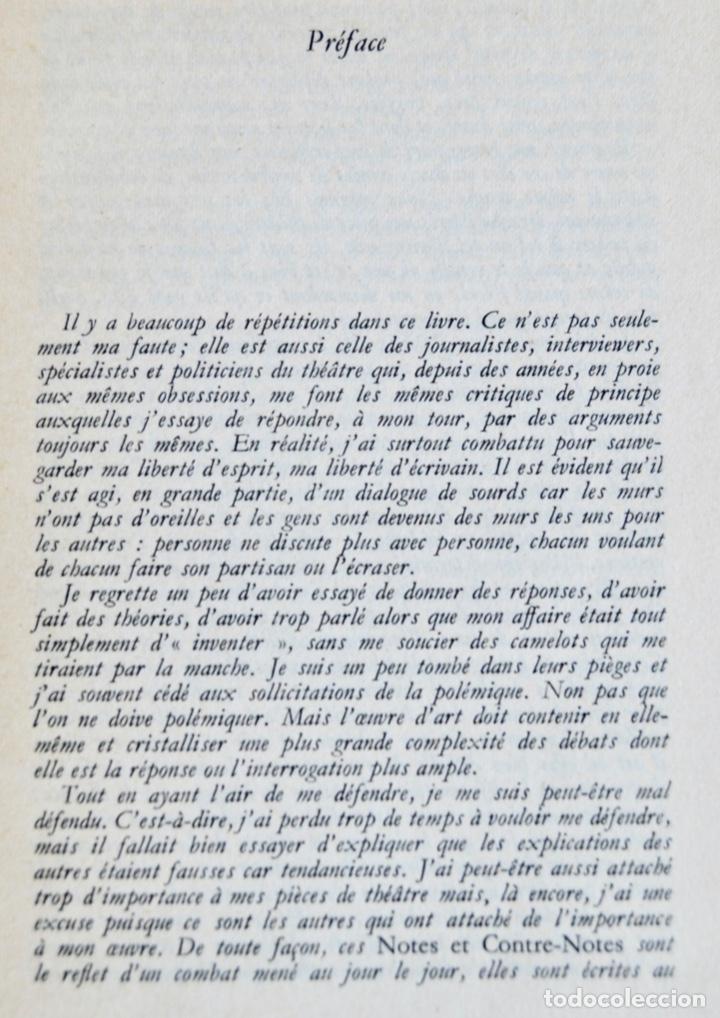 Libros de segunda mano: Eugène Ionesco. Notes et Contre-Notes. Practique du Théâtre. Gallimard. 1962.Ensayos,Conferencias... - Foto 4 - 237333875