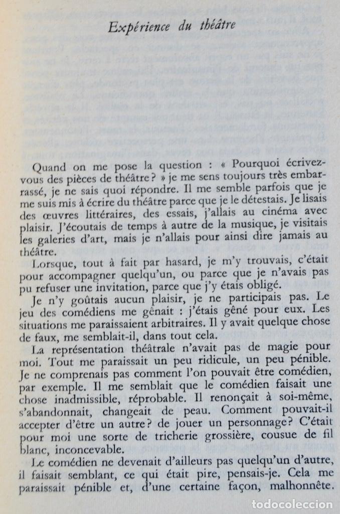 Libros de segunda mano: Eugène Ionesco. Notes et Contre-Notes. Practique du Théâtre. Gallimard. 1962.Ensayos,Conferencias... - Foto 5 - 237333875