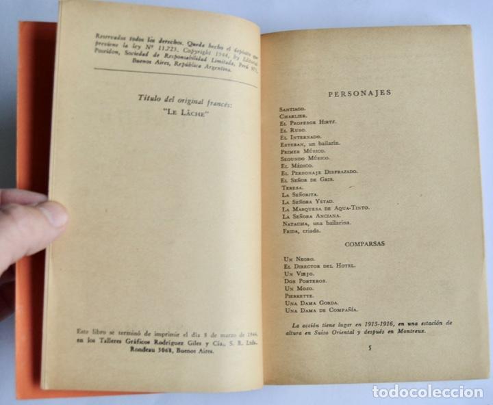 Libros de segunda mano: Lote 3 libros Teatro Colección Pandora. Lenormand, Conrado Nalé Roxlo , E.Labiche y Marc-Michel.1944 - Foto 6 - 237349615