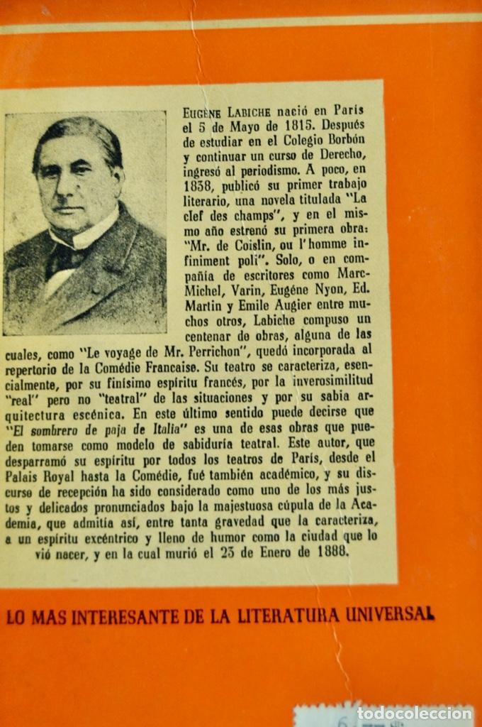 Libros de segunda mano: Lote 3 libros Teatro Colección Pandora. Lenormand, Conrado Nalé Roxlo , E.Labiche y Marc-Michel.1944 - Foto 11 - 237349615