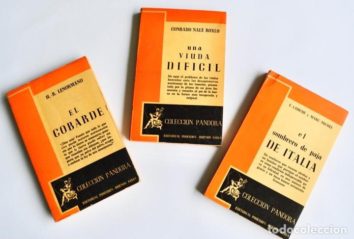 LOTE 3 LIBROS TEATRO COLECCIÓN PANDORA. LENORMAND, CONRADO NALÉ ROXLO , E.LABICHE Y MARC-MICHEL.1944 (Libros de Segunda Mano (posteriores a 1936) - Literatura - Teatro)