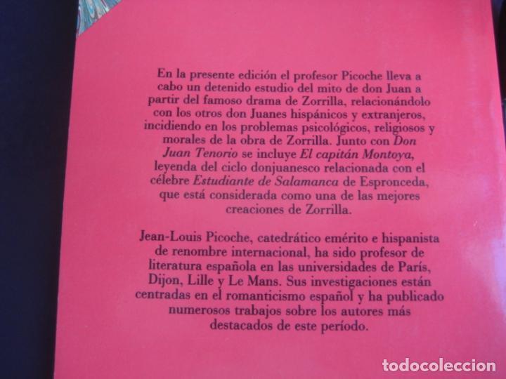 Libros de segunda mano: JOSE ZORRILLA - DON JUAN TENORIO - EL CAPITAN MONTOYA - TAURUS 1992 - LEVE USO - Foto 3 - 237358365