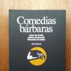 Libros de segunda mano: COMEDIAS BARBARAS, VALLE INCLAN, CARA DE PLATA, CENTRO DRAMATICO NACIONAL, CUADERNOS DE TRABAJO. Lote 241268455