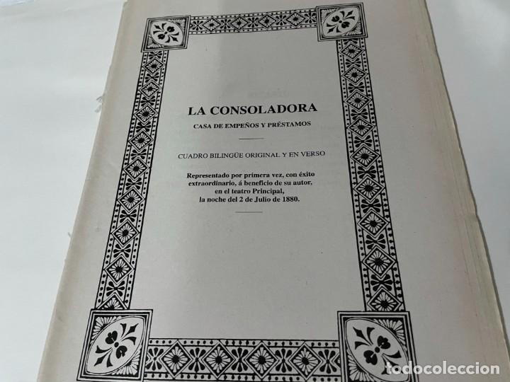 LIBRETO TEATRO AUTOR ESCALANTE LA CONSOLADORA Y BUFAR EN CALDO CHELAT (Libros de Segunda Mano (posteriores a 1936) - Literatura - Teatro)