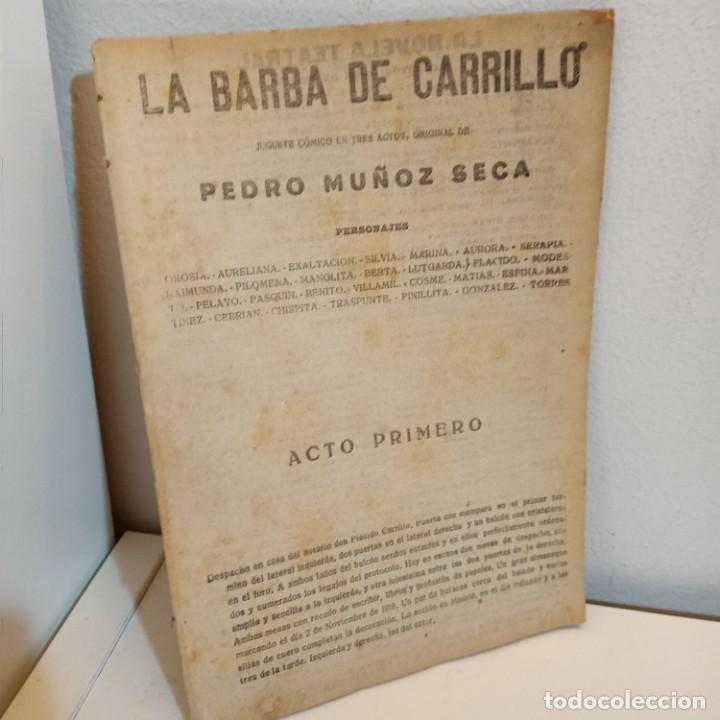 LA BARBA DE CARRILLO, PEDRO MUNOZ SECA, TEATRO / THEATRE, PRINCIPIOS DE SIGLO (Libros de Segunda Mano (posteriores a 1936) - Literatura - Teatro)